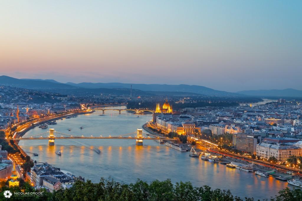 Coucher de soleil sur Budapest